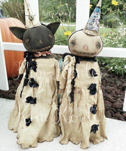 Veenas Mercantile Vintage Style Halloween Doll Patterns, Stencils by Kim Kohler