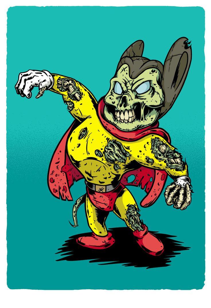 Zomb-Toons / Mighty Mouse Zombified de MarcosWeirdo en Etsy