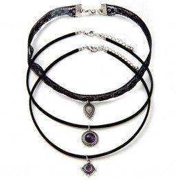 Wing Yuk Tak 3Pcs Lace Necklace
