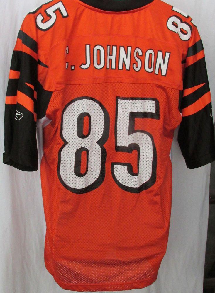 fa8b72de MENS VINTAGE CINCINNATI BENGALS #85 C. JOHNSON REEBOK NFL FOOTBALL ...
