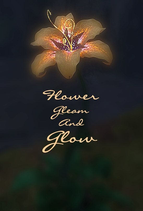 Flower gleam and glow, Let your power shine, Make the clock reverse, Bring back what once was mine. What once was mine....