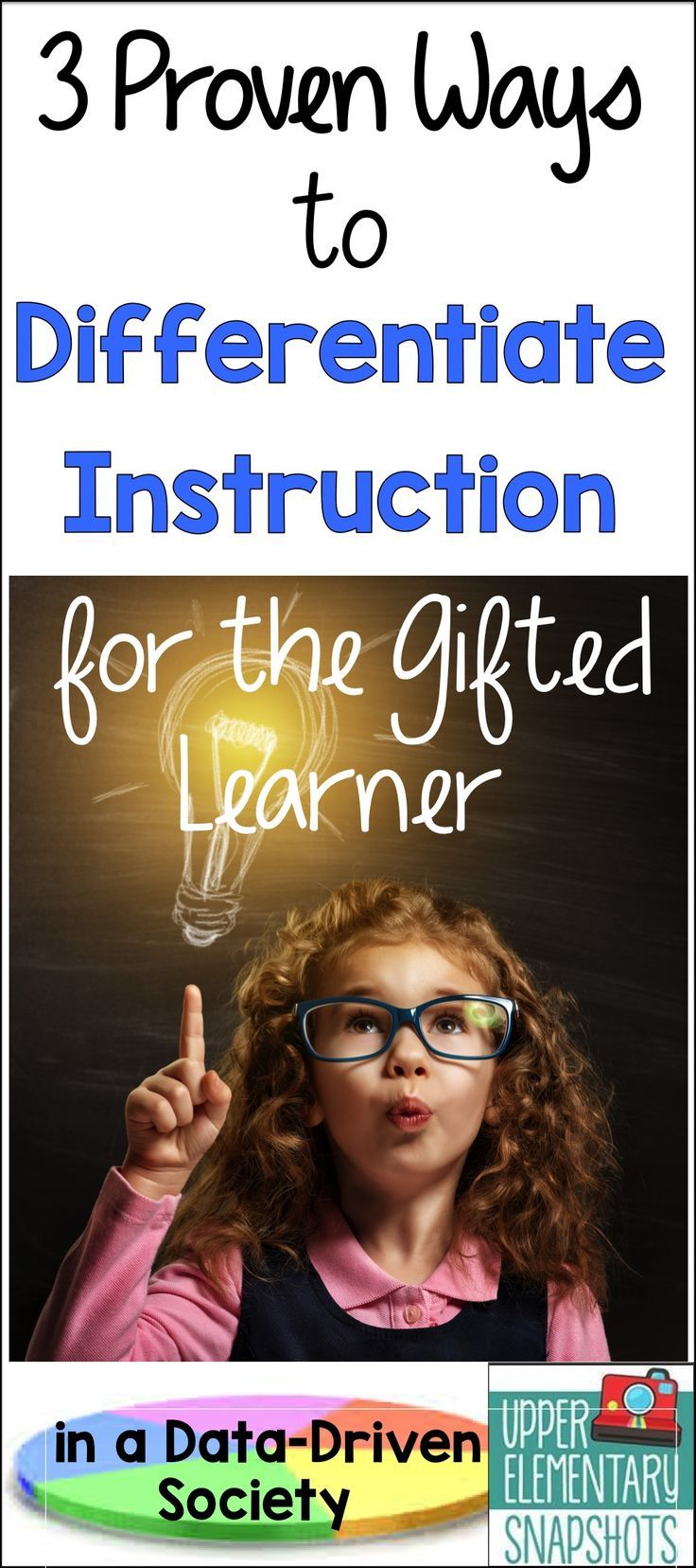 How can you differentiate instruction for the gifted learner?  Use these three proven ways to guide your instruction and you will see results!