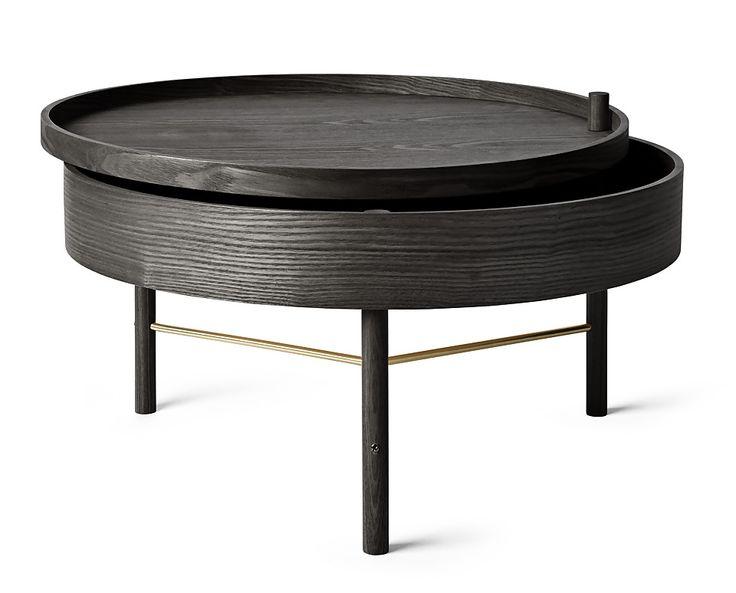 Table Basse Tournante Noire - Menu - Visuel 1                              …