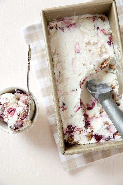 Cherry Crisp Ice Cream | Annie's Eats
