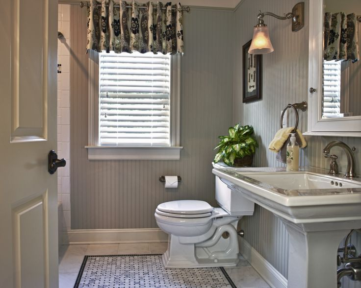 No Windows Bathroom Ideas: Custom Bathroom Window Treatment