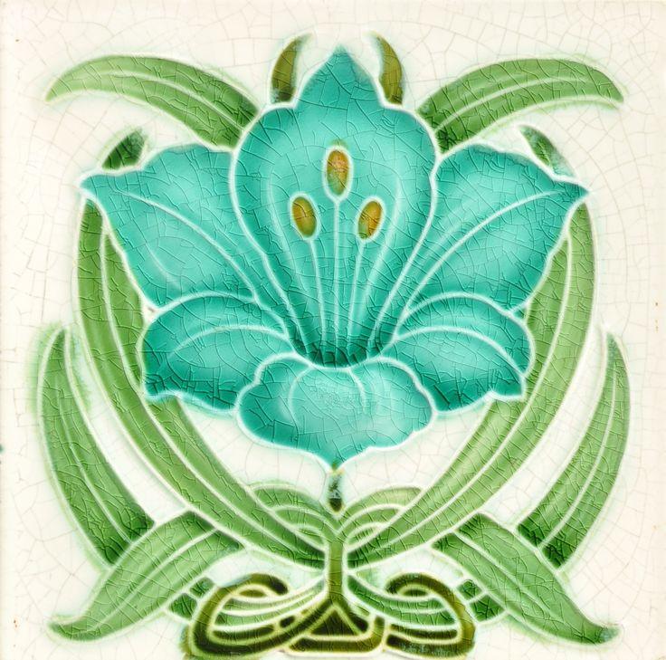 Pilkington (?) c1905 - Art Nouveau Tiles                                                                                                                                                                                 More