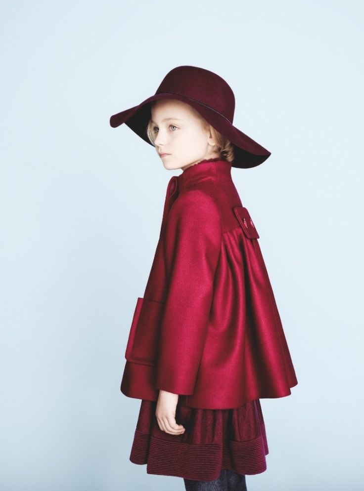 Baby Dior winter 2012 cherry red couture cut wool jacket for girls, love this!!!