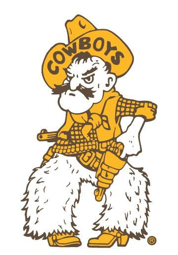 """Pistol Pete University of Wyoming Vinyl Sticker/Decal 16"""" Tall Brown and Gold"""