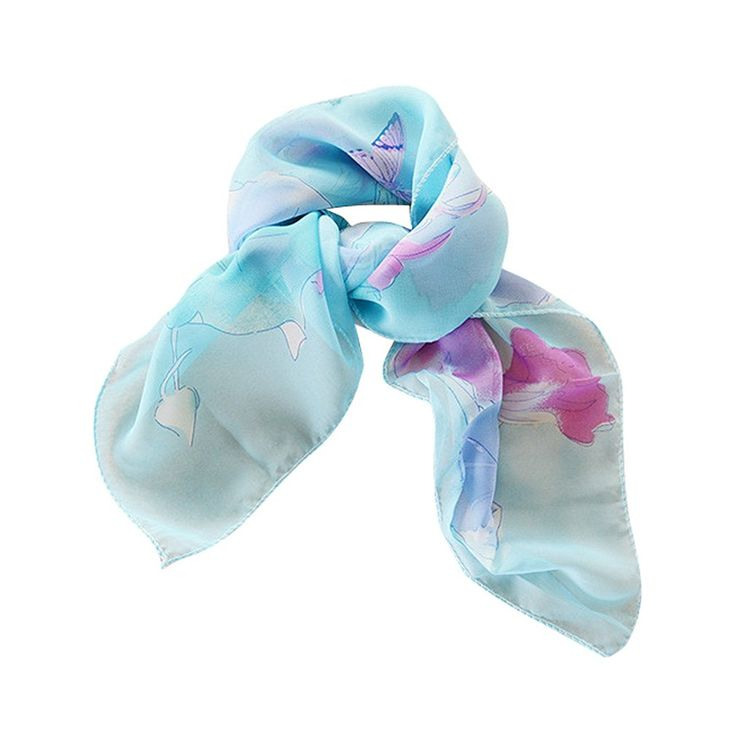 GERINLY Chiffon Square Scarf: Morning Glory Print Women Neckerchief * It's so cheap! Additional details at the pin image, click it  : 99 cent Women's Accessories