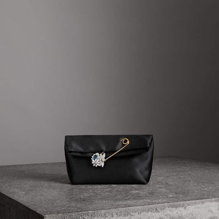 e4dc9ddb405c Burberry The Small Pin Clutch in Satin