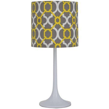 Mainstays Grey Yellow Lamp - Walmart.com