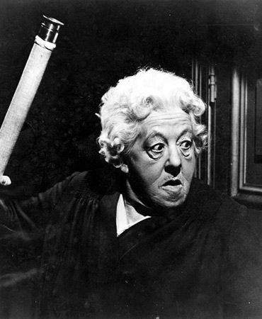 Margaret Rutherford as Miss Marple...while I prefer Joan Hickson's portrayals, I simply ADORE the few films Margaret did as Miss Marple...she was such a treasure...I could watch them for hours.