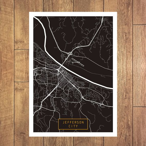 JEFFERSON CITY Missouri City Map Jefferson City by JackTravelMap
