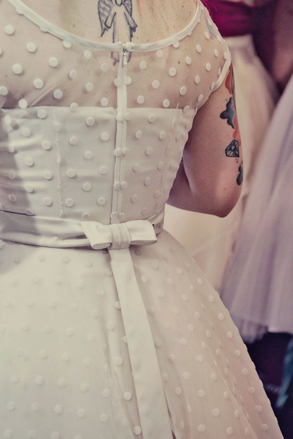 polka dot overlay dress