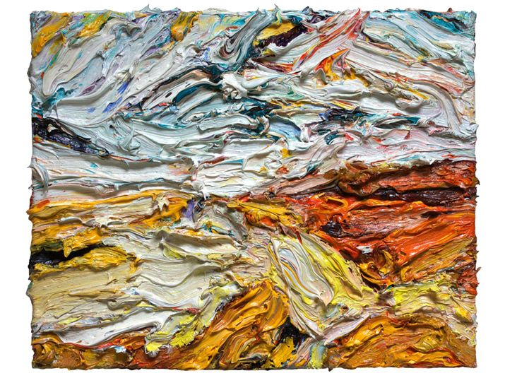'Oranjewoud' is painted by Marie-José Robben in 2012. It is part of the landscape series. The used material is oil on canvas. In the picturesque Oranjewoud, Dutch for 'Orange Forest' you'll find the best collection of Modern and Contemporary Art in Friesland in the Belvédère Museum. The word Orange discloses the former connection with the House of Orange, the Dutch Royal Family.