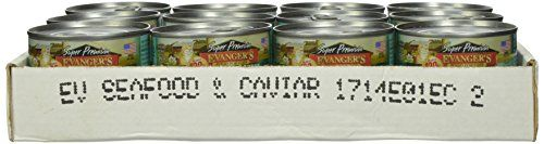 EVANGER'S 24-Pack Gold Super Grain Free Holistic Seafood and Caviar Dinner for Cats, 5.5-Ounce 776205