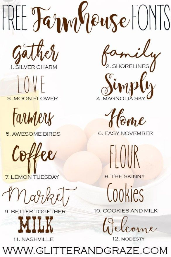 a collection of free farmhouse fonts that you can download and use rh pinterest com