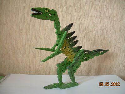 Динозавр изприщепок, поделки изприепок