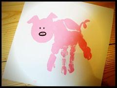 Animal handprint - pig