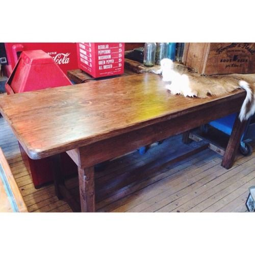 re-finished harvest table