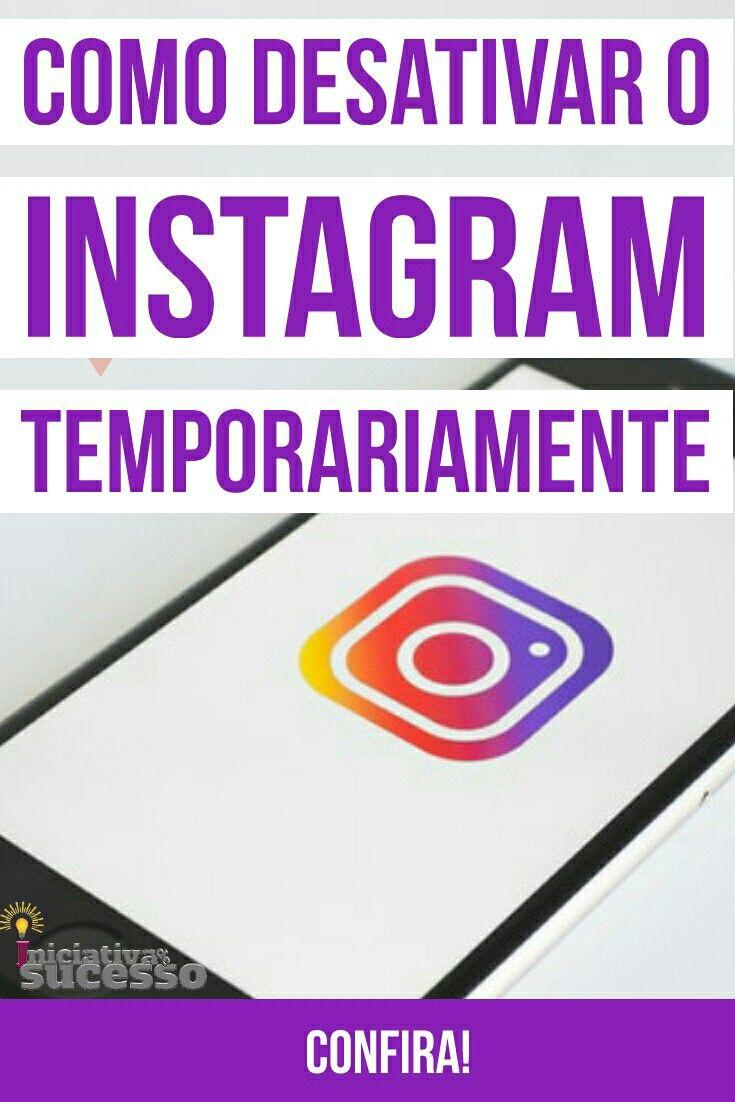 como desativar o instagram