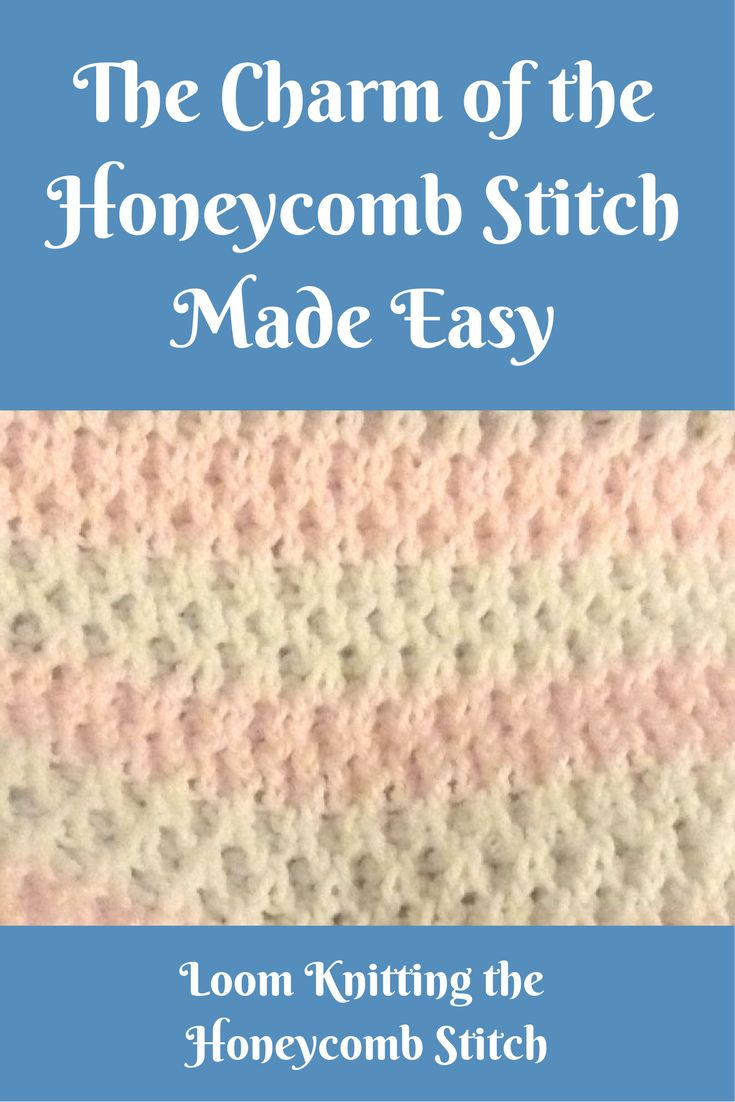Video and written instructions for creating the Honeycomb stitch on the knitting loom.