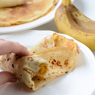 Baked Oatmeal Pancakes with Bananas - A Healthy Breakfast Recipe