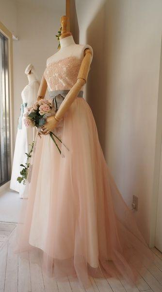 クロカンブッシュ(Croque en Bouche)  カラードレス〈ピンク〉