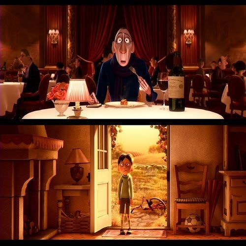 Ratatouille... my favorite scene in the movie. How food can transport you back to your childhood.