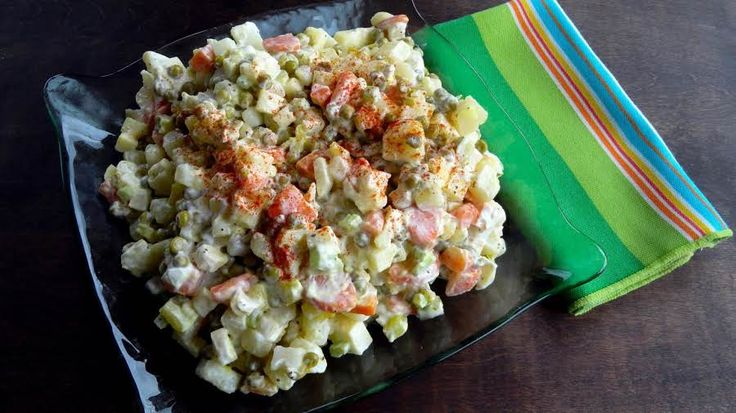 This authentic Polish salad is known all over Poland as a staple dish in every household. It is served cold as a side to almost any meal. It is great with burgers, hot dogs, Polish sausage or even schnitzel. I make this salad a couple times a month.