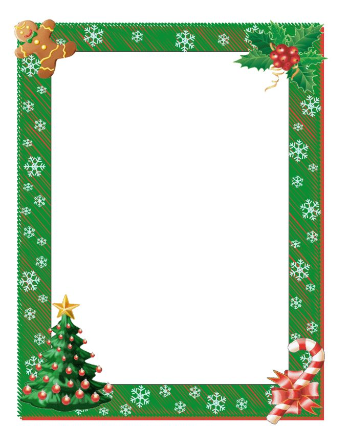 Free Printable Boarders Christmas Border Free Page Borders