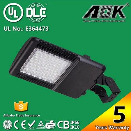 """UL DLC Listed 5 Years Warranty 150W LED Power Parking Lot Light, Outdoor LED Parking Lot Lighting Retrofit Fixtures"""