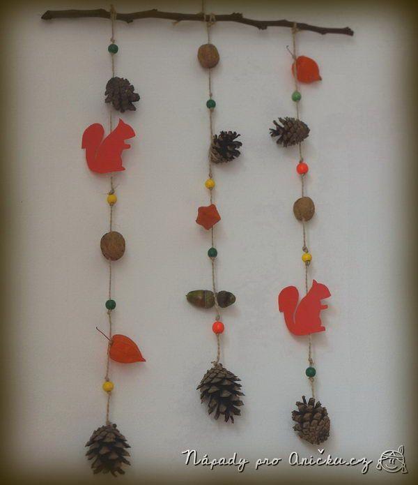 Podzimní veverková dekorace