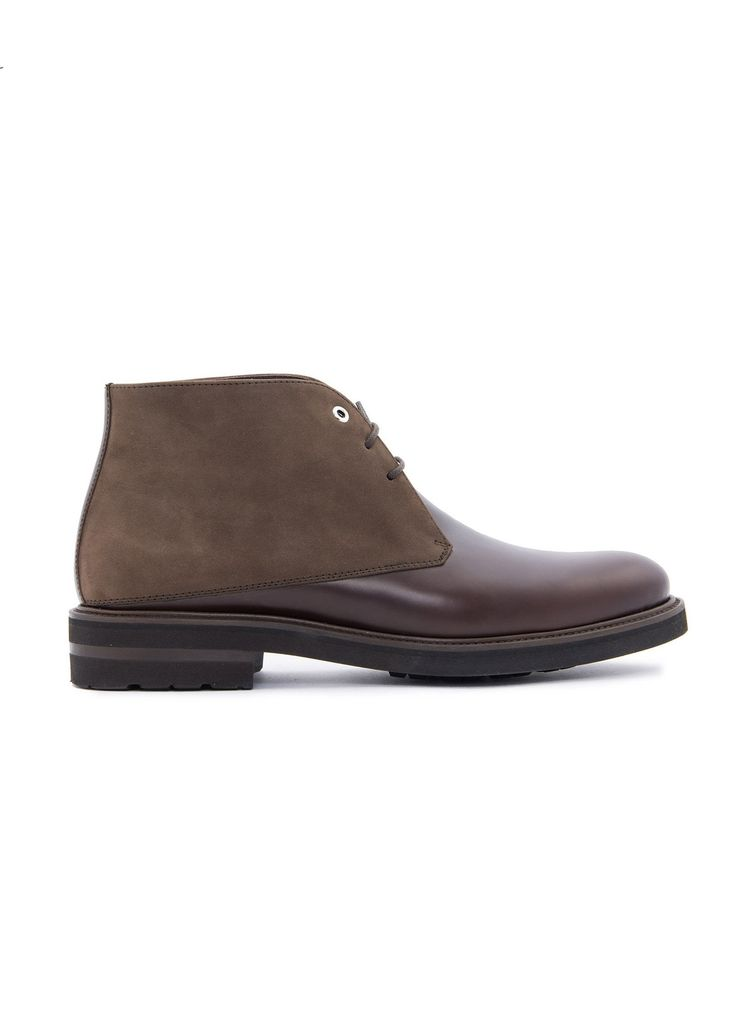 Want Les Essentiels de la Vie - Menswear - FW16 // Brown Stewart Desert boots in leather