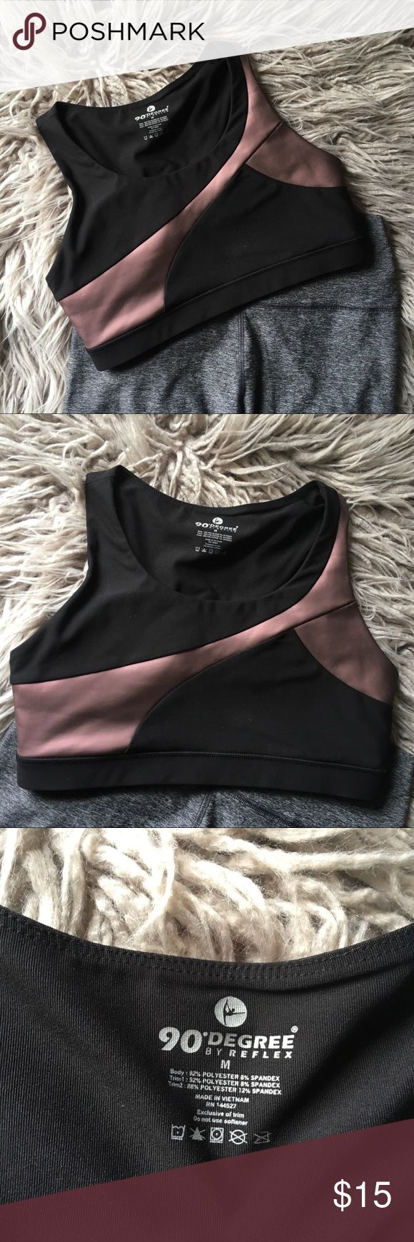 • Metallic Rose Gold Sports Bra Crop Top • You can wear this any which way; crop top or as a traditional sports bra.  Size is a medium but it would better fit a small!  Slight tear in side seam that has been restitched just adds some lovely flair to this awesome top. 90 Degree By Reflex Intimates & Sleepwear Bras