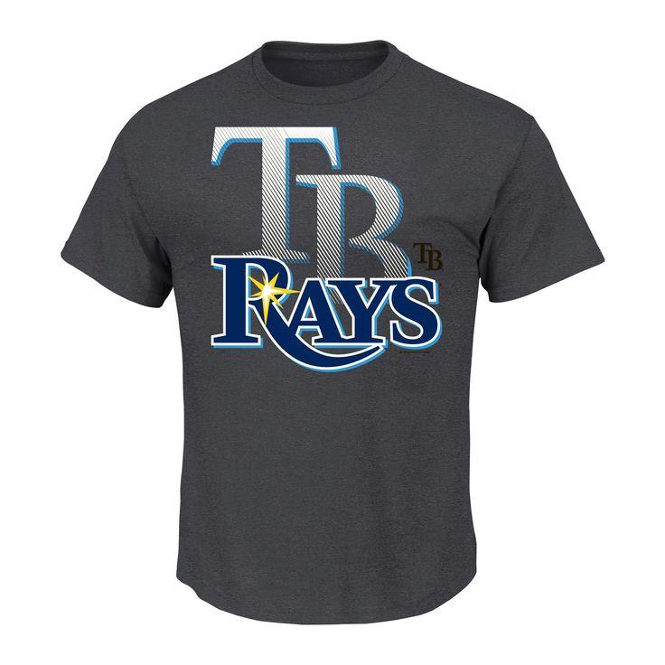 Tampa Bay Rays Men's Charcoal Heather T-Shirt Xxl, Gray