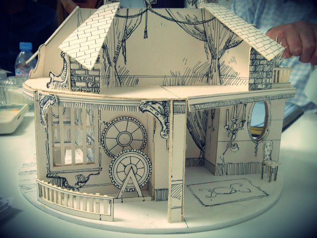 A model of the show set