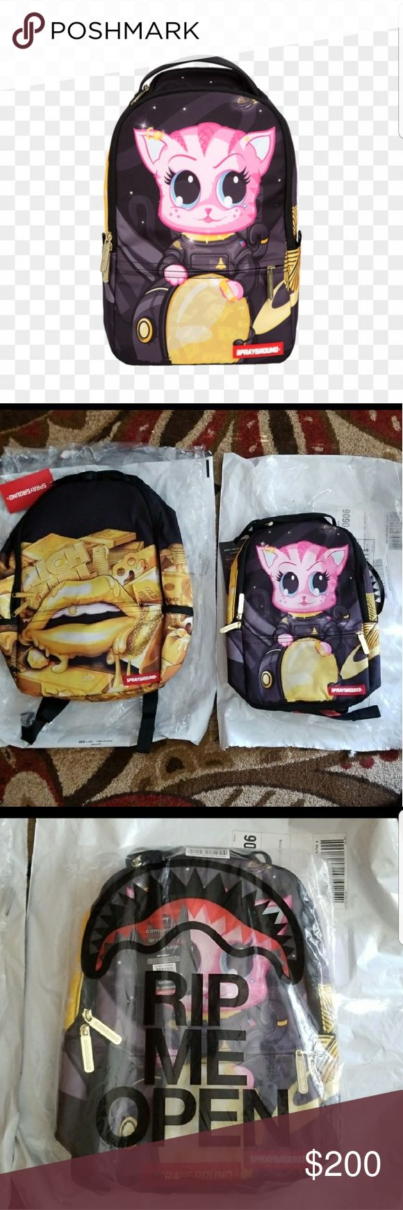 Sold out lil kitstronaut Mini backpack 2nd picture shows it in comparison to a normal spray ground bpk its just too big for me i wanted something smaller Tags hottopic iron fist doll skill unif killstar unisex dropdead kawaii too fast sprayground Bags