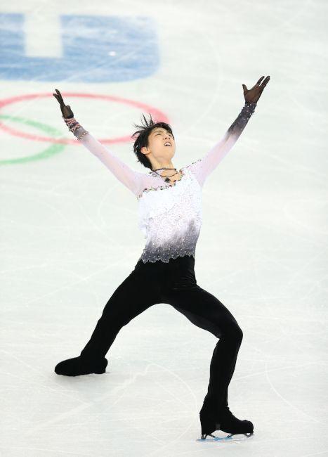 〈ソチオリンピック(男子フリー)〉 男子フリーの演技をする羽生結弦=川村直子撮影