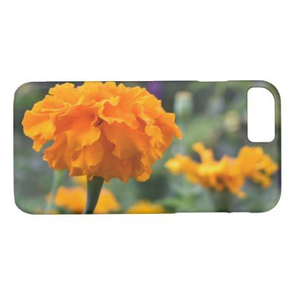 Marigold Orange Flower Nature Photography Garden iPhone 8/7 Case - photography picture cyo special diy