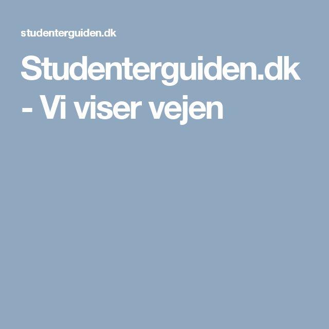 Studenterguiden.dk - Vi viser vejen