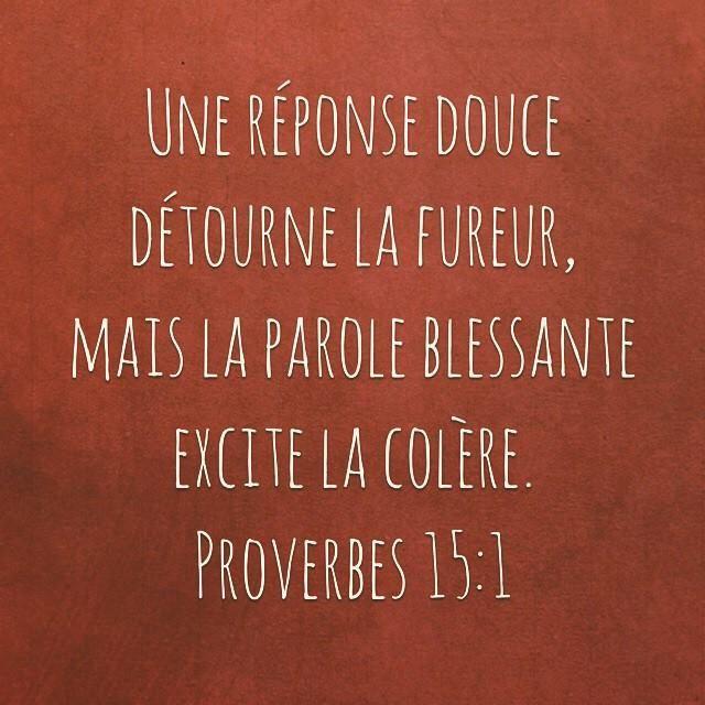 ~ Proverbes 15:1 ~                                                                                                                                                     Plus