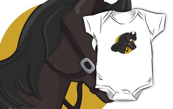 Horse head cartoon by Radka Kavalcova