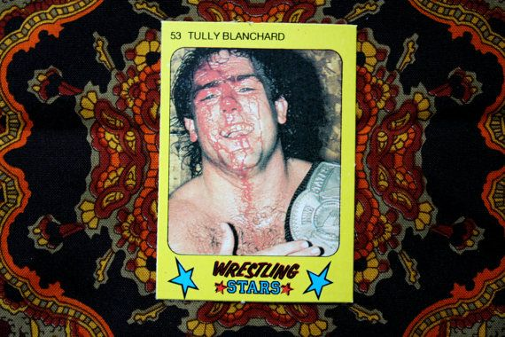 Tully Blanchard  Vintage Rare Monty Gum Bloody by ElevatedWeirdo