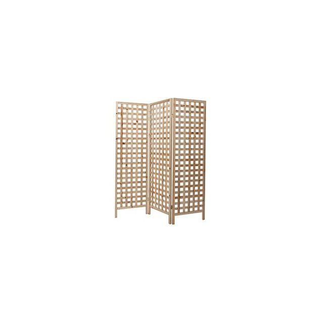 Paravent en bois naturel AKKIKO MILIBOO : prix, avis & notation, livraison.  Créez une ambiance nature en quelques secondes : vous n'avez qu'à déplier ce paravent ajouré en bois naturel pour égayer votre intérieur. Ce paravent en bois est l'élément idéal pour créer une séparation dans une grande pièce, mais il peut également devenir un objet déco pour habiller un mur, réchauffer l'atmosphère d'une pièce ou en...