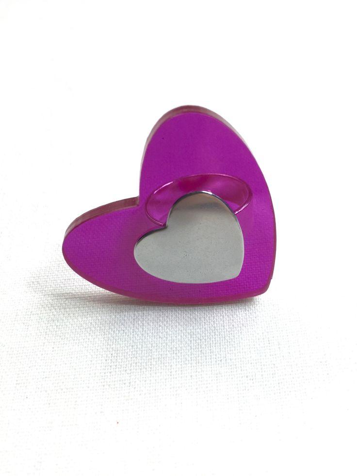 Fuchsia Heart Ring