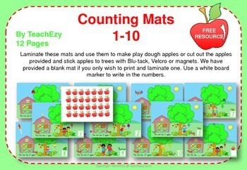 Apple Mats Counting Resource TeachEzy
