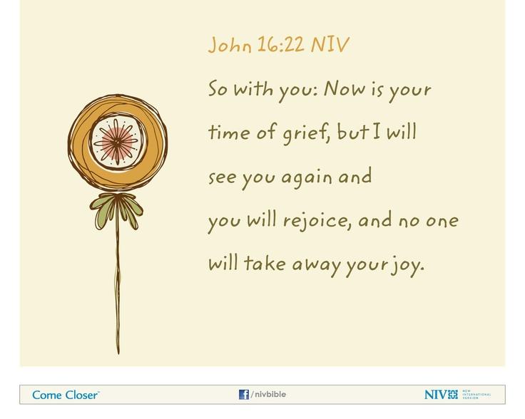 Unexpected Loss Of A Friend Www Liveluvecreate Com 0 John: John 16:22 NIV Bible Verse About Joy