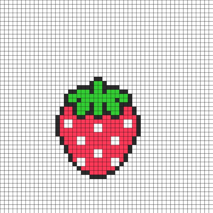 cute strawberry perler bead pattern bead pattern