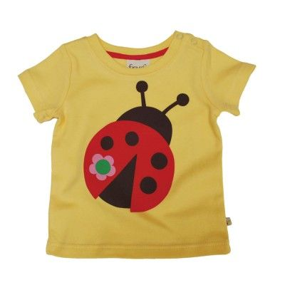 Frugi T-Shirt από 100% Οργανικό Βαμβάκι Με Τυπωμένη Πασχαλίτσα - Sunnyside